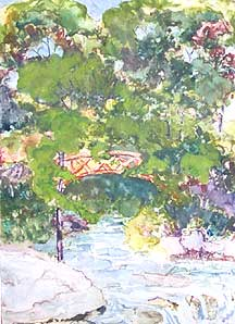 A watercolor called Bridge at Manresa by Lily Dudgeon